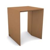 tavolo piccolo in cartone color avana