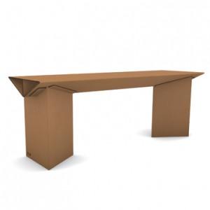 tavolo di cartone avana