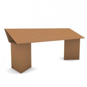 tavolo di cartone inclinato avana