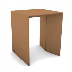 tavolo piccolo di cartone avana